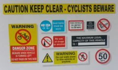 Commercial Vehicle H&S  FORS COMPLIANT STICKER Pack London Regs etc-  WEB058